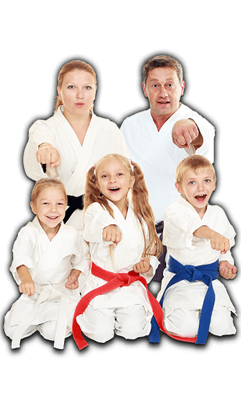 Martial Arts Lessons for Families in Kansas City MO - Sitting Group Family Banner