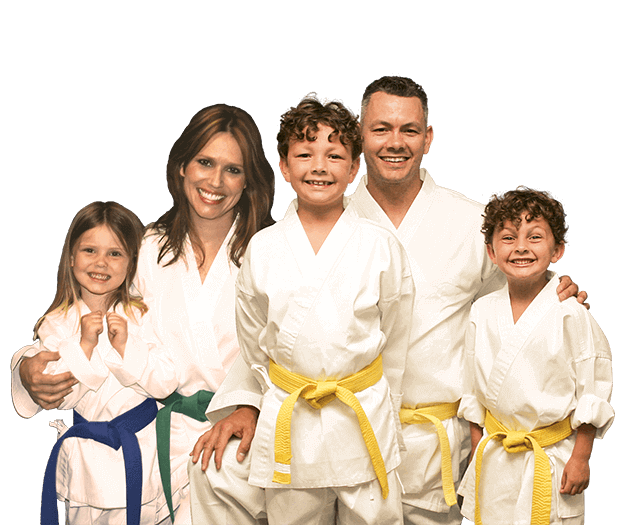 Martial Arts Lessons for Families in Kansas City MO - Group Family for Martial Arts Footer Banner