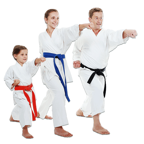 Martial Arts Lessons for Families in Kansas City MO - Man and Daughters Family Punching Together