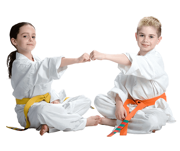 Martial Arts Lessons for Kids in Kansas City MO - Kids Greeting Happy Footer Banner