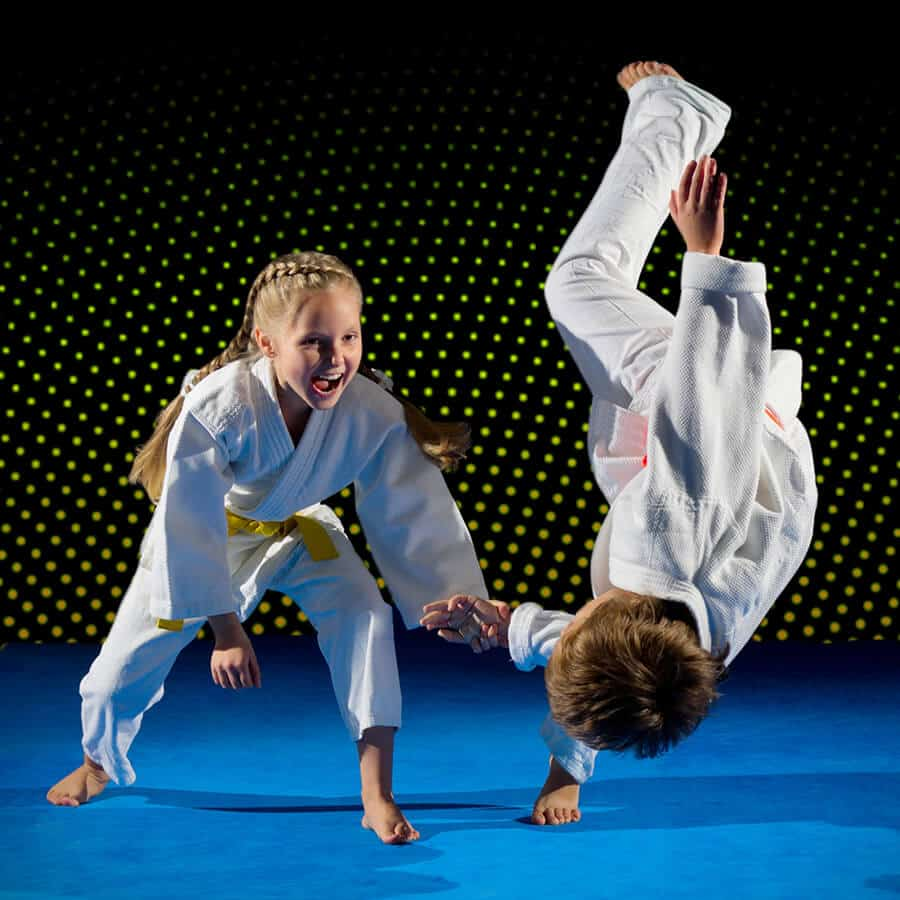 Martial Arts Lessons for Kids in Kansas City MO - Judo Toss Kids Girl